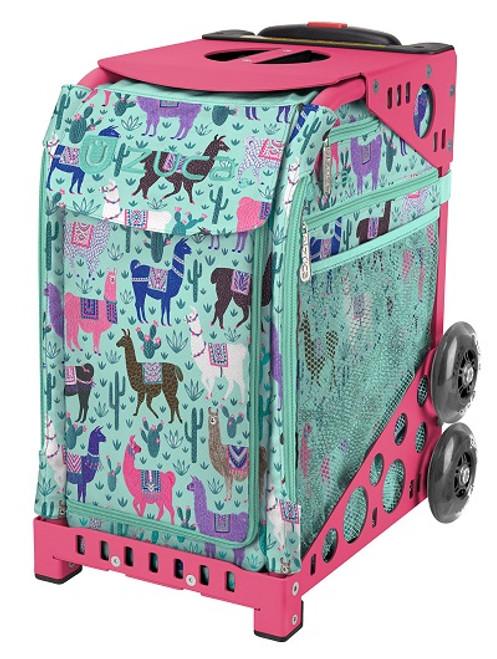 Llama Zuca Bag w/Pink Frame