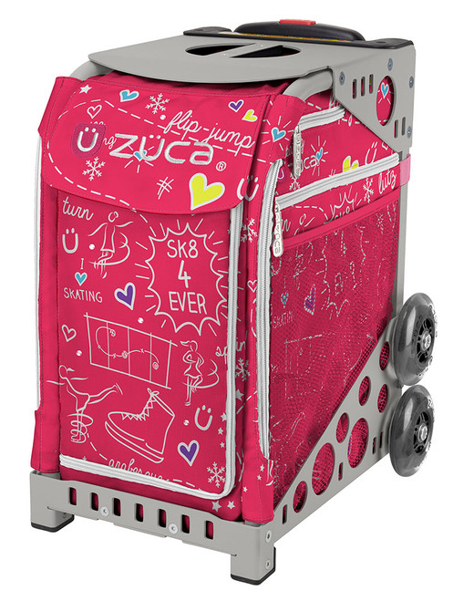 Pink Sk8 Zuca Bag w/Gray Frame
