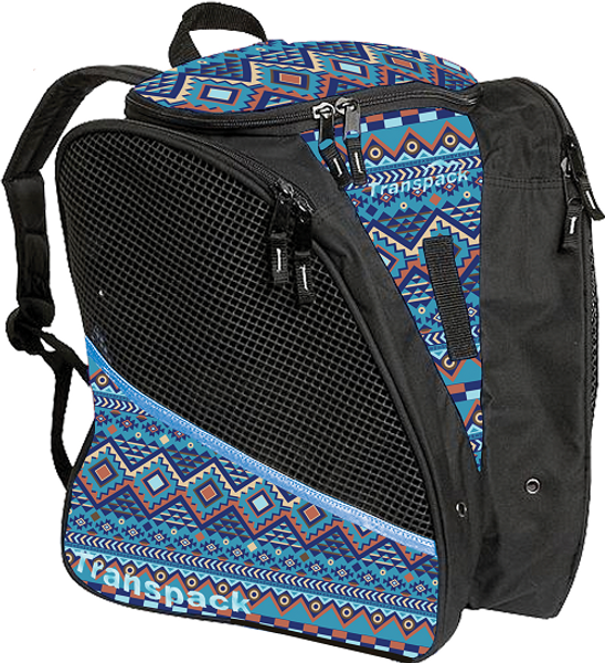 Blue Aztec Transpack Bag