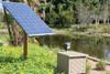 solar pond aerator installation