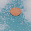 Soilfloc particle sizes.  Comparable to sugar grains.