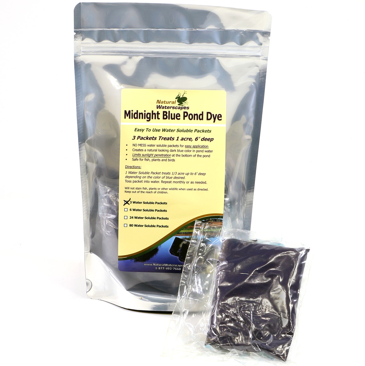 Midnight Blue Pond Dye Packets- 3 water soluble packets