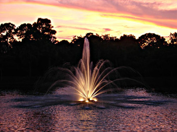 Augusta Pond Fountain Spray Pattern
