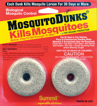 Mosquito Control Dunks for standing water