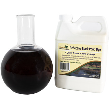 Reflective Black Pond dye for reducing sunlight penetration