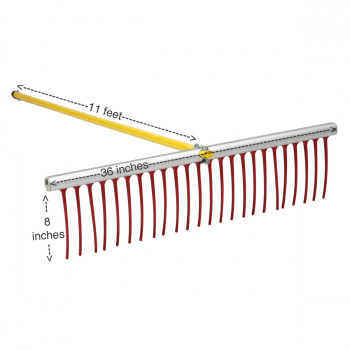 "Weed Rake with 8"" teeth for clearing submerged pond weeds"