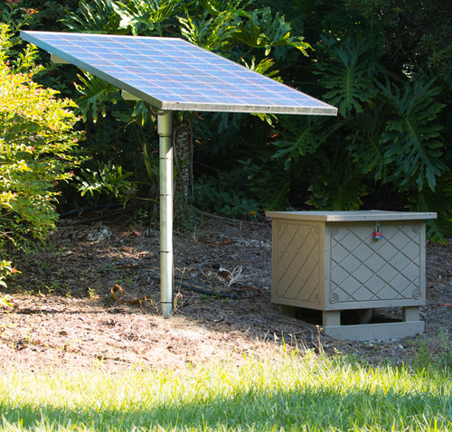 Solar panel for pond aerator