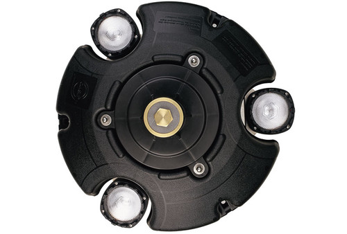 PondJet Floating Pond Fountain - top view shown with option light kit