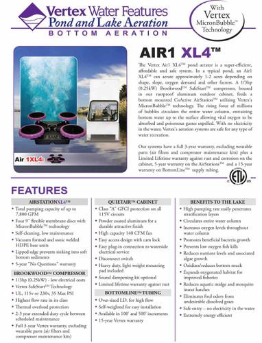 Vertex Air 1 XL4 Details