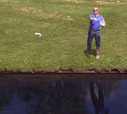 Easy pond treatment application - simply toss water soluble packets into the pond and let them get to work!