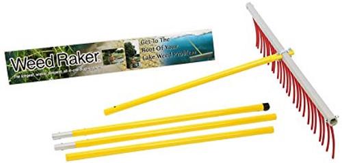 Weed Raker clears shoreline weeds