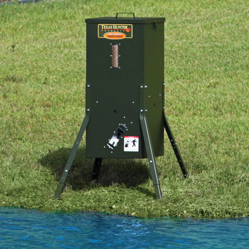 Texas Hunter Fish Feeder with Adjustable Mounting Legs