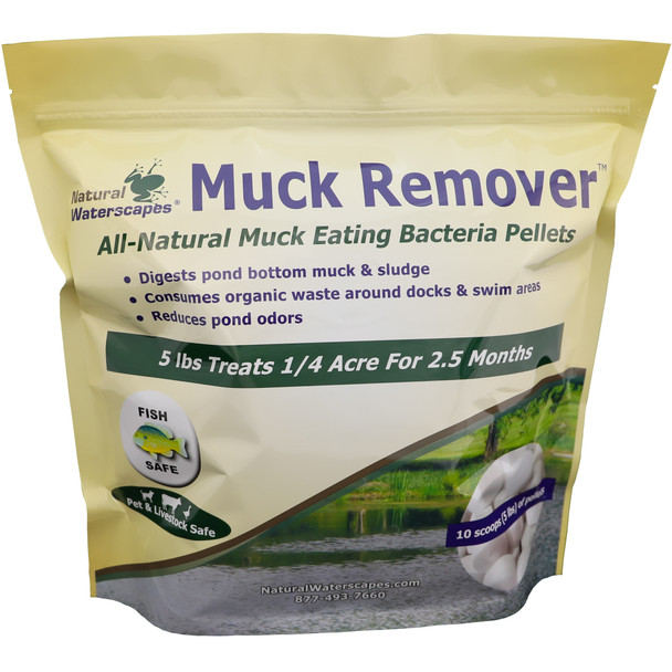Muck Remover Pellets 5 lb - 10 scoops
