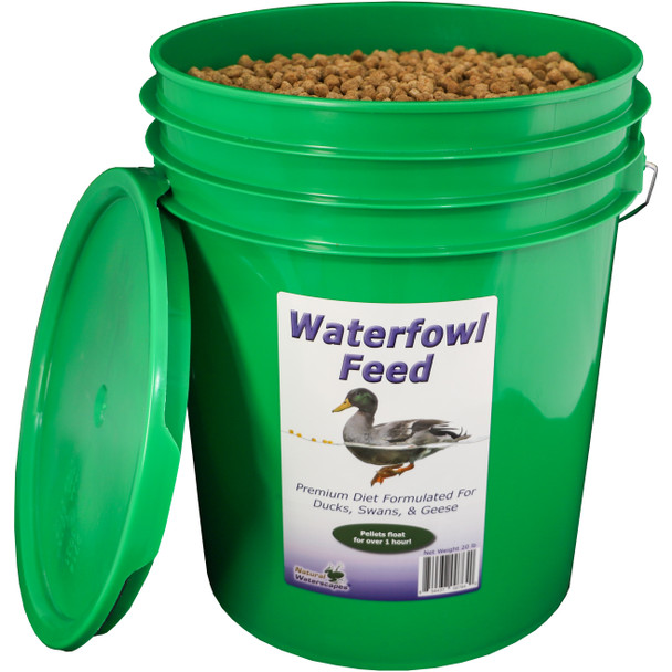 Duck & Swan Food in resealable pail