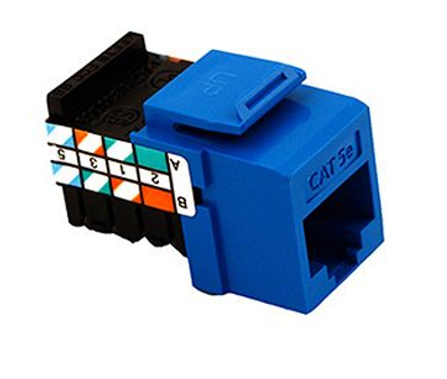 GigaMax Cat 5e QuickPort Connector Quickpack, Blue