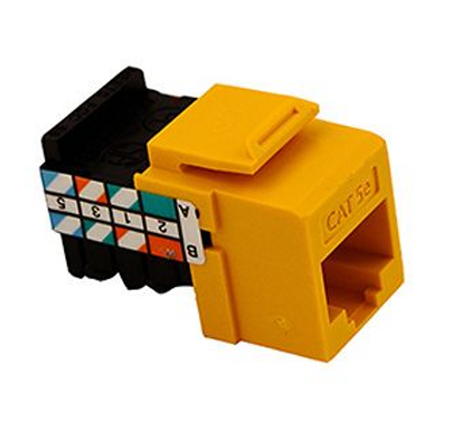 GigaMax Cat 5e QuickPort Connector Quickpack, Yellow