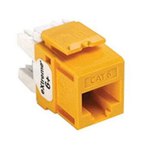 Leviton eXtreme Cat 6 QuickPort Connector, Yellow