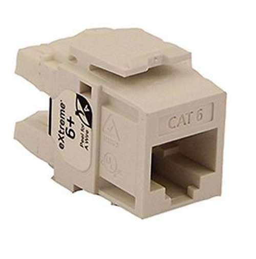 Leviton eXtreme Cat 6 QuickPort Connector, White