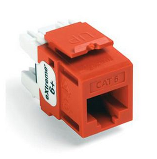 Leviton eXtreme Cat 6 QuickPort Connector, Orange