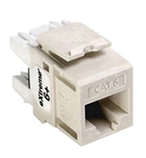 Leviton eXtreme Cat 6 QuickPort Connector, Light Ivory