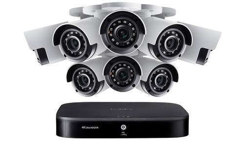4K Ultra HD 8-Channel Security System with Eight 4K (8MP) Cameras, Advanced Motion Detection and Smart Home Voice Control
