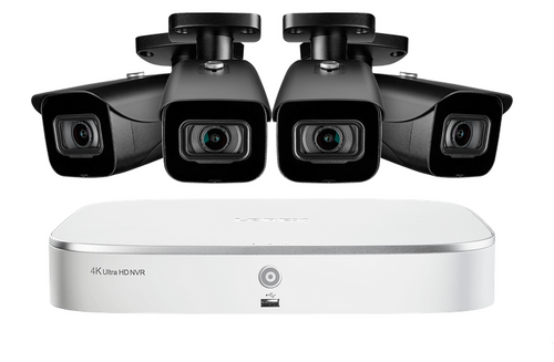 8-Channel 4K Nocturnal IP NVR System with Four 4K (8MP) Smart IP Cameras