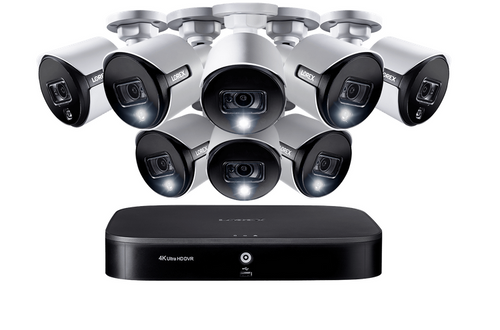 4K Ultra HD 8-Channel Security System with 8 Active Deterrence 4K (8MP) Cameras, Advanced Motion Detection and Smart Home Voice Control