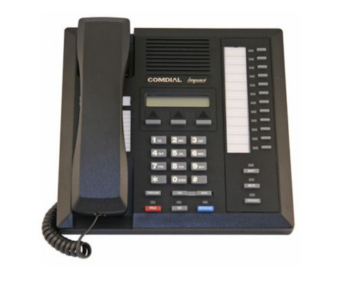 Comdial Impact 8012S-GT (Black) Telephone with 12 Lines, Speakerphone & LCD - Refurbished
