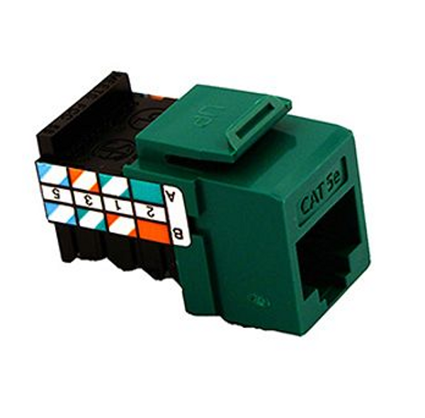 GigaMax Cat 5e QuickPort Connector Quickpack, Green