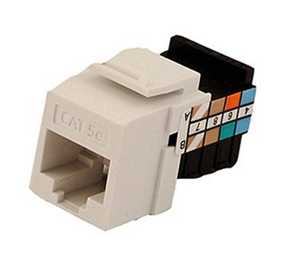 GigaMax Cat 5e QuickPort Connector Quickpack, White