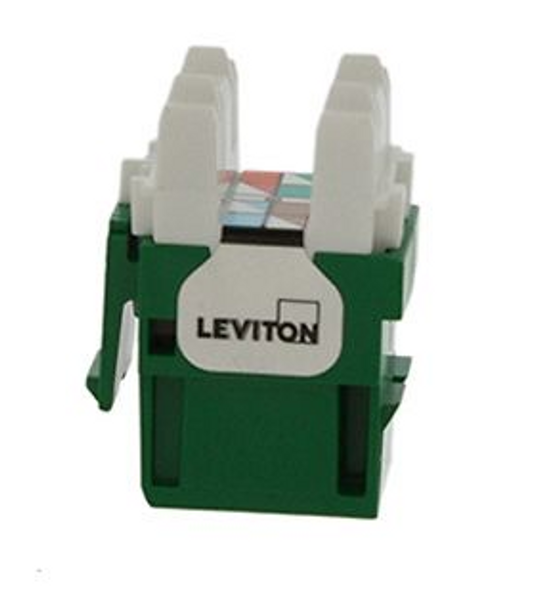 Leviton eXtreme Cat 6 QuickPort Connector, Green