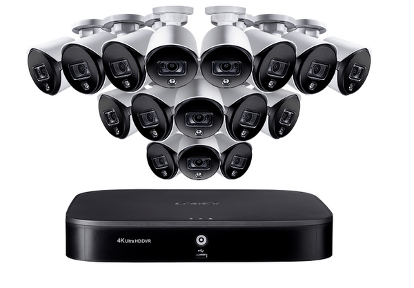 4K Ultra HD 16 Channel Security System with Sixteen 2K 5MP Active Deterrence Cameras, Advanced Motion Detection and Smart Home Voice Control