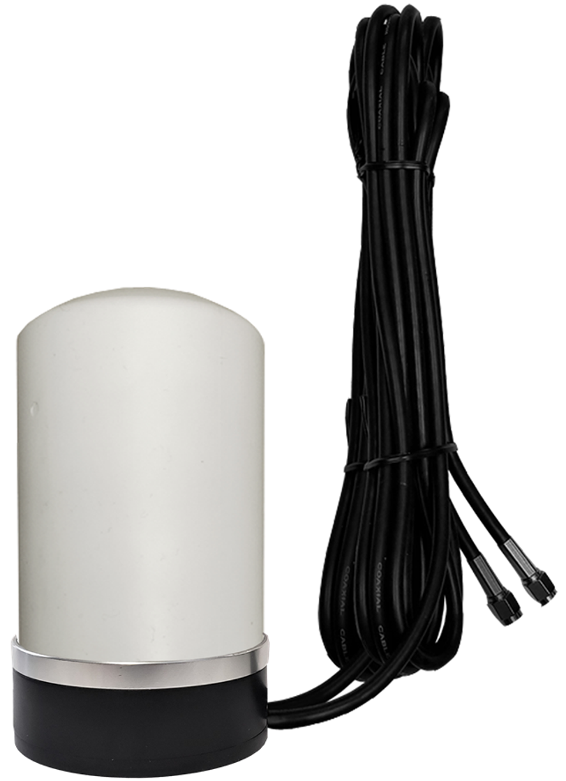 AG27M Low-Profile MIMO 2 x Cellular 3G 4G 5G LTE WiFi Omni-Directional Magnetic Mount Antenna w/2 x 16ft Coax Cables