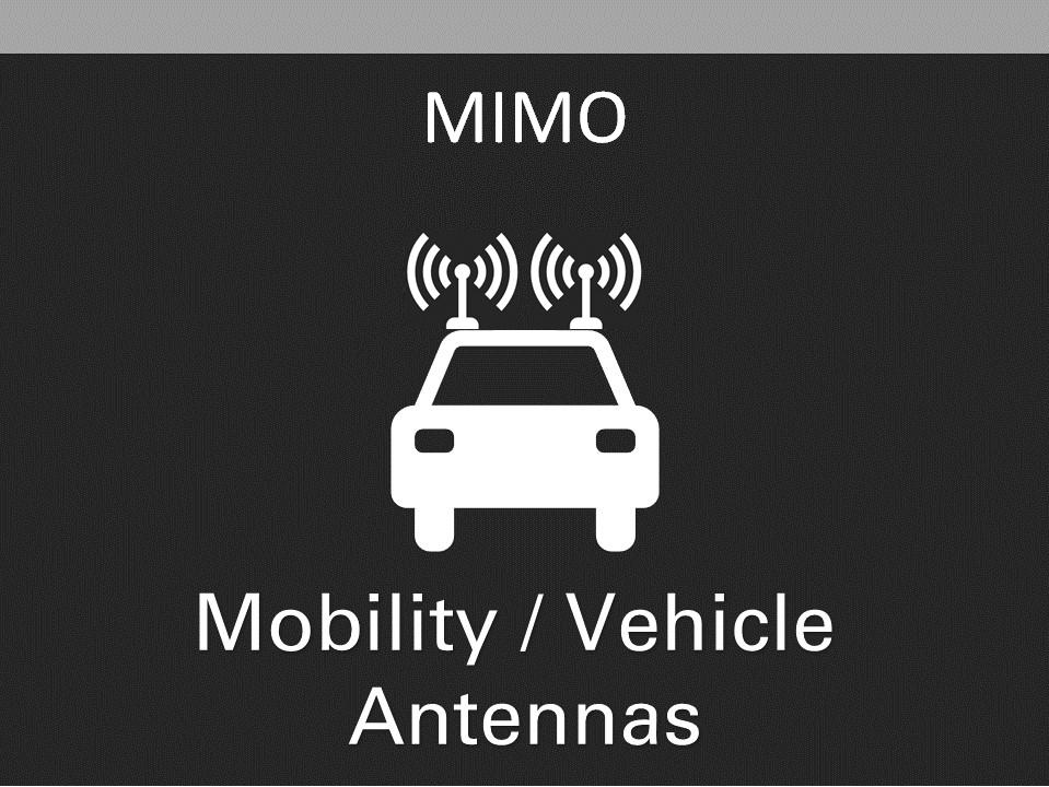 AG MIMO Mobility Vehicle Antennas