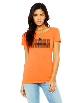 women's houston dash logo tee