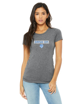 Women's Dash On Tee - Athletic Grey