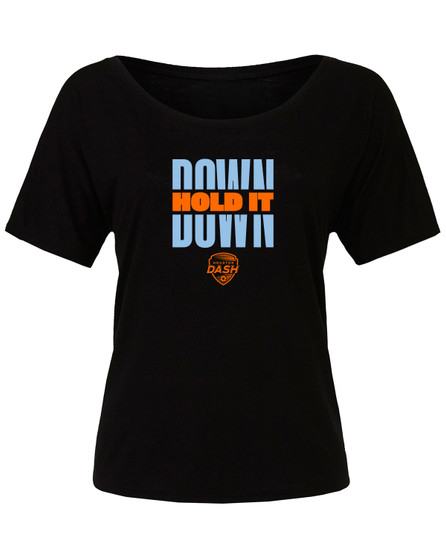 women's hold it down tee