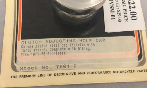 Colony 7601-2 1971-76 Sportster cap for clutch adjuster...NOS