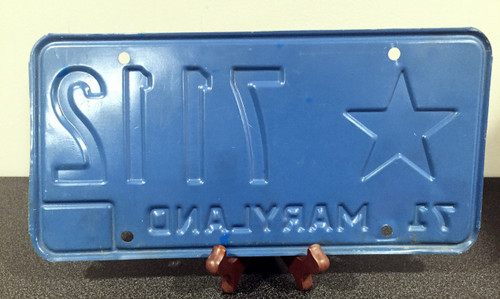 1971 Maryland star license plate 7112