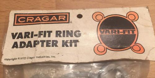 Vintage NOS Cragar Vari-Fit Adapter Kit #29426 4 1/4 B.C. 4 Bolt