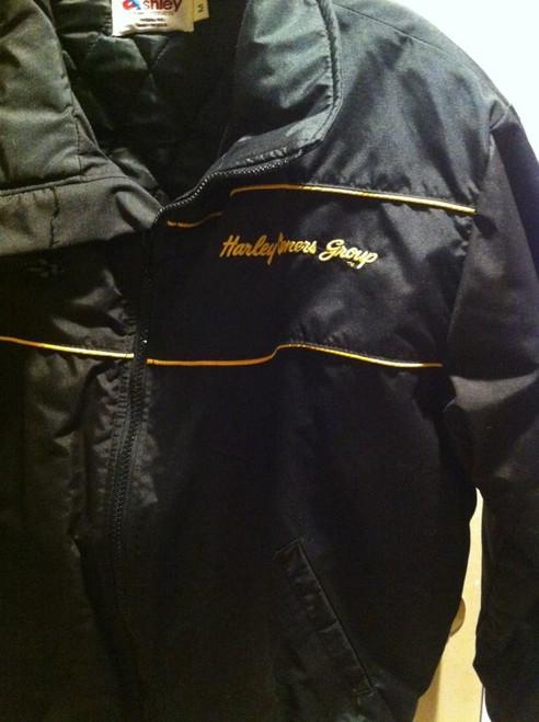 Vintage HOG Harley Owners Group Nylon Jacket,  MADE IN USA...Men's Medium