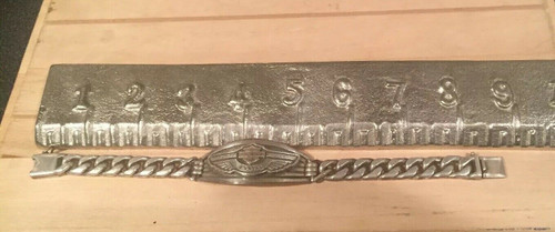 Rare MOD Harley Davidson 100th Anniversary Men's Heavy .925 Silver Bracelet