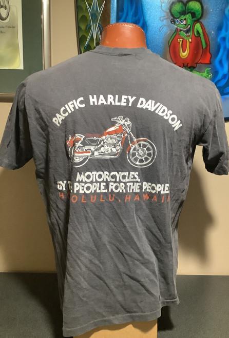 Vintage 80's Harley-Davidson By The People For The People Pacific H-D  Honolulu Hawaii, coolintocash.com, shopthegarage.com, coolintocash, shop the garage, Bingo's Swap Meet Garage