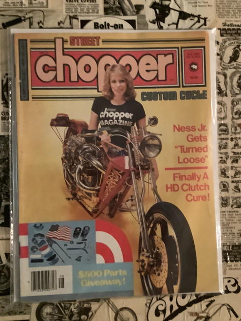 Street Chopper Magazine, Vintage, 1980's, choppers,  bikers, coolintocash.com, shopthegarage.com, Bingo's Swap Meet Garage