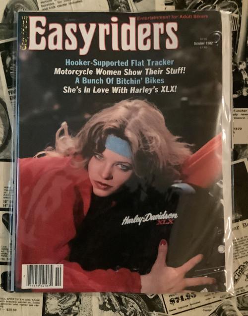 Easyriders Magazine, Vintage, 1980's, David Mann, bikers, coolintocash.com, shopthegarage.com, Bingo's Swap Meet Garage