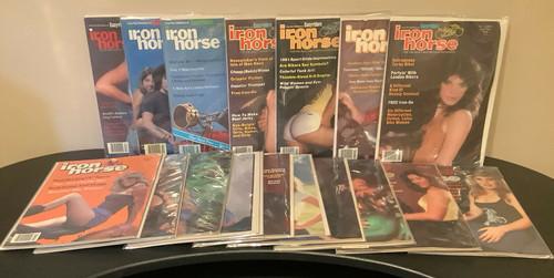 Iron Horse , Easyriders Magazine, Vintage, 1980's, David Mann, bikers, coolintocash.com, shopthegarage.com, Bingo's Swap Meet Garage