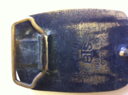 Vintage (1978)  BTS solid brass Private Pilot belt buckle (BACK)