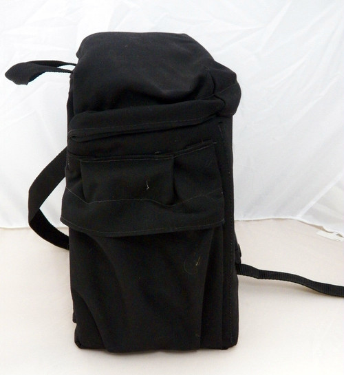 Road Ready lined canvass sissybar bag with side pockets (used)