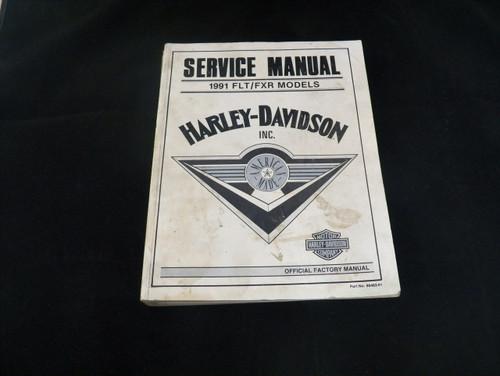 Harley-Davidson Factory Service Manual 1991  FLT/FXR Models (USED)