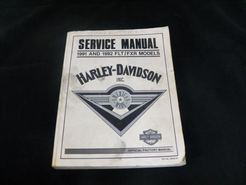 Harley-Davidson Factory Service Manual 1991 & 1992 FLT/FXR Models (USED)